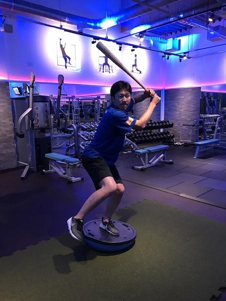 上本選手トレーニング@スロースタイル ジム 青山