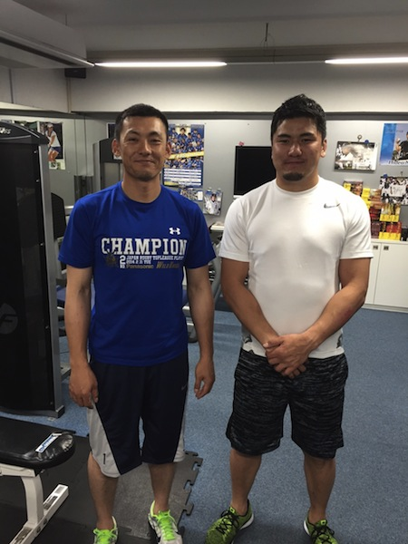 栗山選手と西原選手