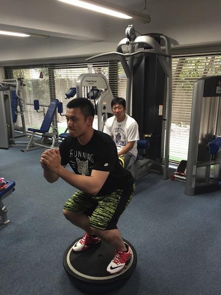 栗山選手 スクワット