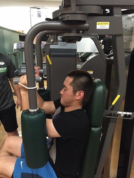 永江選手 リアデルト トレーニング