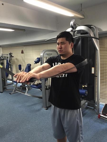 西原選手トレーニング@ストロングス 本社gym