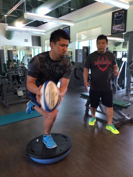 西原選手 バランス トレーニング
