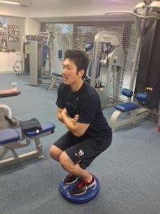 上本選手トレーニング