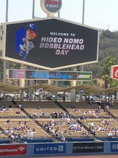 HIDEO NOMO BOBBLEHEAD DAY
