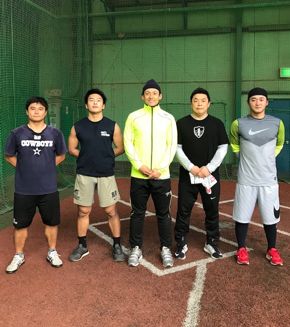 左から三浦選手元山選手栗山選手わたし永江選手